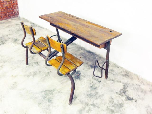 法國學生桌椅組(1940-50)_1