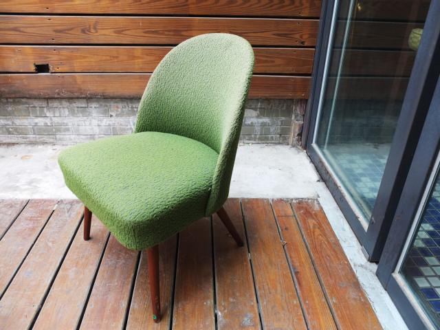 丹麥綠色絨布單人椅_3
